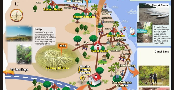 Baluran National Park Ecotourism Map